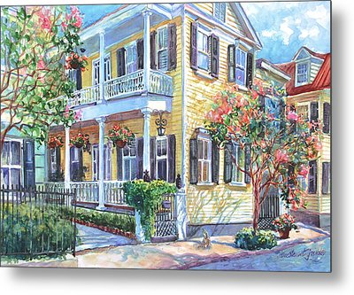 Tradd Street Textures Metal Print by Alice Grimsley