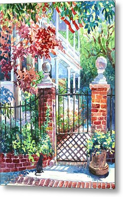 Tradd Street Tradition Metal Print by Alice Grimsley
