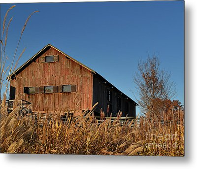 Traders Point Barn Metal Print