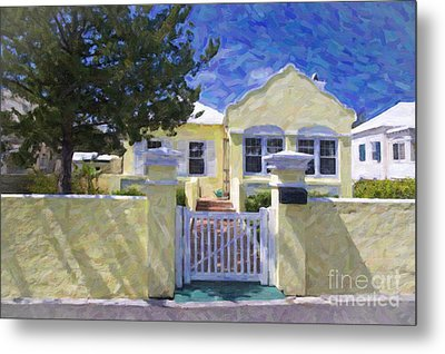 Metal Print featuring the photograph Traditional Bermuda Home by Verena Matthew