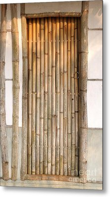 Traditional Chinese House With Bamboo Door Metal Print by Yali Shi