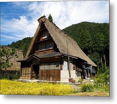 Traditional Gassho-zukuri Style House In Suganuma Village - Gokayama - Japan Metal Print by Chieko Shimado