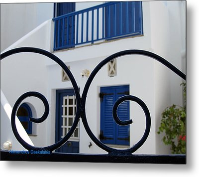 Traditional Greek House Metal Print by Alexandros Daskalakis
