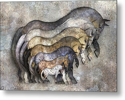 Traditional Horses Metal Print