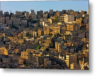 Traditional Houses In Amman, Jordan Metal Print