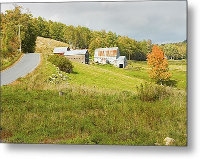 Traditional Maine Farm On Side Of Hill Canvas Poster Prints Metal Print by Keith Webber Jr