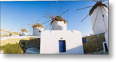 Traditional Windmill In A Village Metal Print