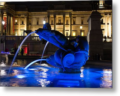 Trafalgar Square At Night Metal Print