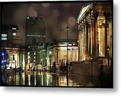 Trafalgar Square Rain Metal Print by Heidi Hermes