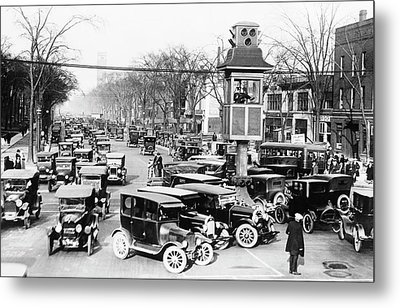 Traffic Control In Detroit Metal Print