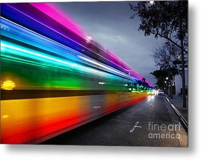 Traffic In Los Angeles Metal Print by Konstantin Sutyagin