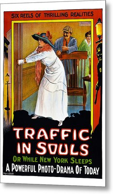 Traffic In Souls, Us Poster, 1913 Metal Print by Everett