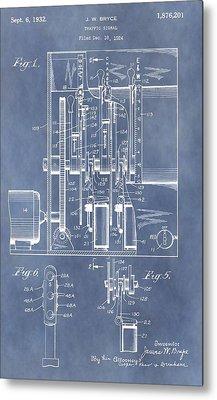 Traffic Light Patent Metal Print