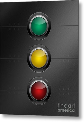 Traffic Lights Metal Print by Phil Perkins