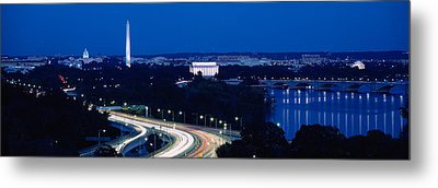 Traffic On The Road, Washington Metal Print by Panoramic Images