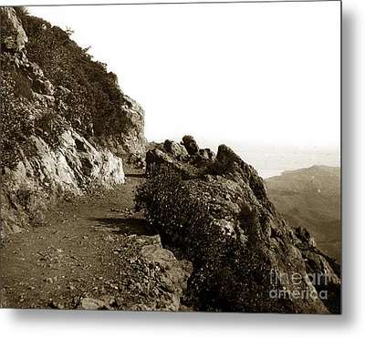 Metal Print featuring the photograph Trail On Mt. Tamalpais Marin Co California Circa 1902  by California Views Mr Pat Hathaway Archives