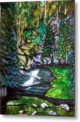 Metal Print featuring the painting Trail To Broke-off by Lil Taylor