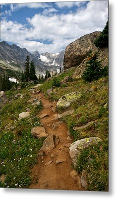 Trail To Lake Isabelle Metal Print by Ronda Kimbrow