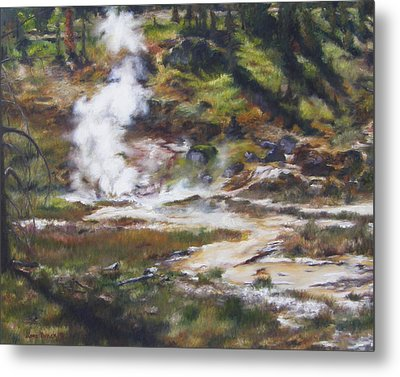 Trail To The Artists Paint Pots - Yellowstone Metal Print