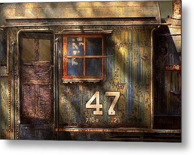 Train - A Door With Character Metal Print by Mike Savad