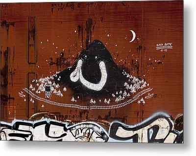 Train Art Graffiti Metal Print by Carol Leigh