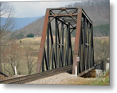 Train Bridge Metal Print by Brenda Dorman