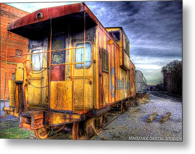 Train Caboose Metal Print by Jonny D