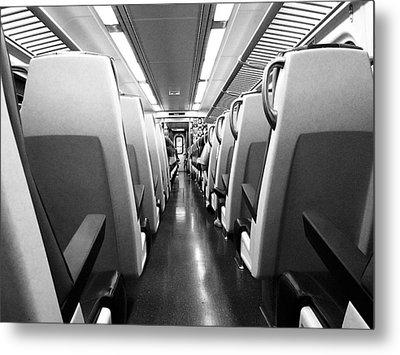Train Car Metal Print by Sam Newton