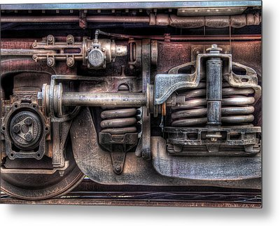 Train - Car - Springs And Things Metal Print by Mike Savad