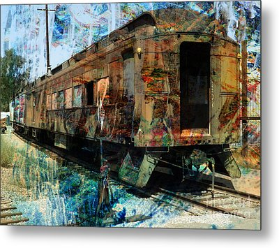 Train Cars Metal Print by Robert Ball