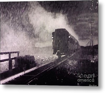 Train Departing Metal Print by Lyric Lucas