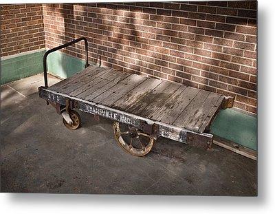 Train Depot Baggage Cart 4tda Metal Print by Greg Jackson