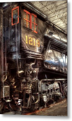 Train - Engine - 1218 - Norfolk Western - Class A - 1218 Metal Print by Mike Savad
