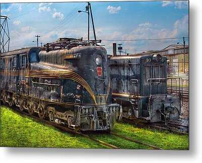 Train - Engine - 4919 - Pennsylvania Railroad Electric Locomotive  4919  Metal Print by Mike Savad