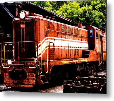 Train Engine Nc Sl  Metal Print by Mark Moore