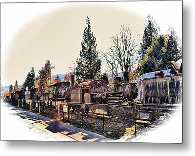 Train Graveyard Metal Print by Kelly Reber