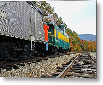 Metal Print featuring the photograph Train In New Hampshire by Amazing Jules