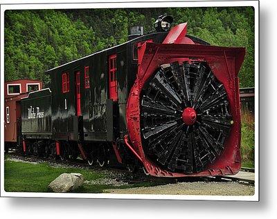 Train Passing Metal Print