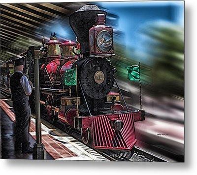 Train Ride Magic Kingdom Metal Print by Thomas Woolworth