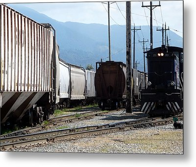Train Shunting Station Metal Print by Nicki Bennett
