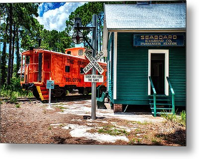 Train Station In Hdr Metal Print by Michael White
