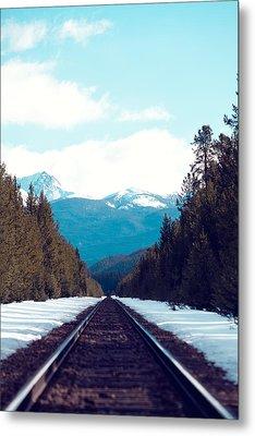 Train To Mountains Metal Print by Kim Fearheiley