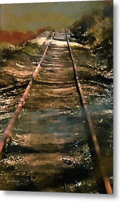 Train Track To Hell Metal Print
