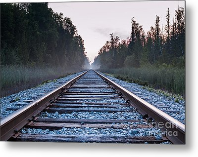 Metal Print featuring the photograph Train Tracks To Nowhere by Patrick Shupert