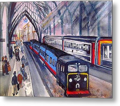 Train Train Train Metal Print by Esther Woods