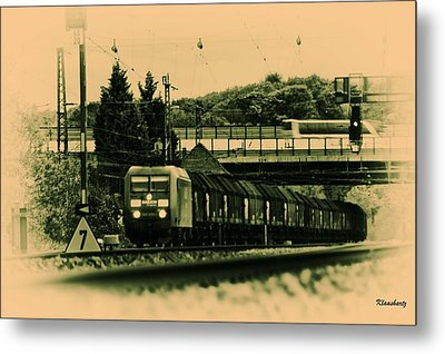 Train Travel In The Future Metal Print