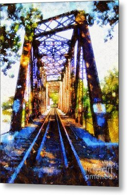 Train Trestle Bridge 2 Metal Print by Janine Riley