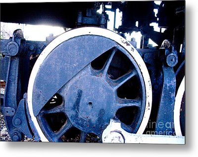 Train Wheel Metal Print by Thomas Marchessault