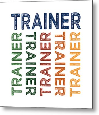 Trainer Cute Colorful Metal Print by Flo Karp