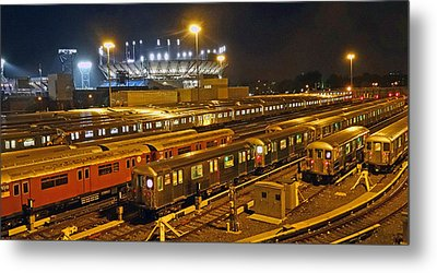 Trains Nyc Metal Print